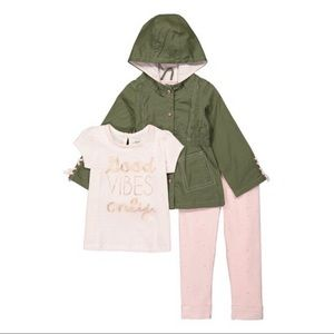 ISO Nannette Green Good Vibes Only Jacket Set